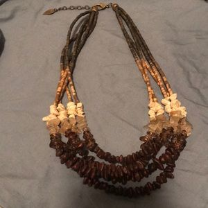🌟3 for $20🌟Brown & Tan Bead Strand Necklace